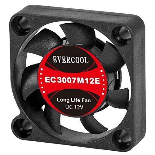 Evercool 30mm 3cm 30 x 30 x 7mm 3 Pin 12 Volt PC Case Fan (H) EC3007H12EA