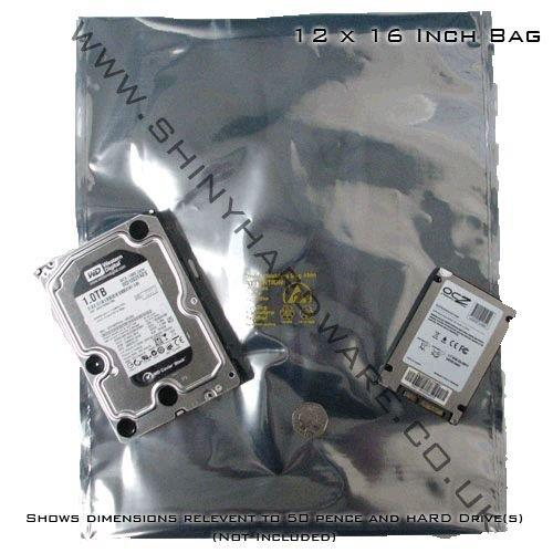 50 x SHL Brand Antistatic Metallic Shielding bag 12 x 16 inch (30.5 x 40.5 cm) - SHL12x16